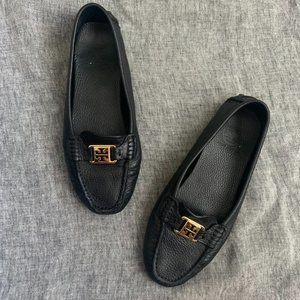 Tory Burch Kendrick black leather driving loafer